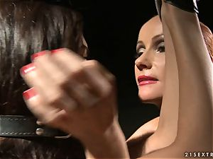 female dominance Katy Borman puts this mega-slut in some naughty pain