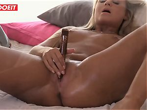 Czech blonde honey likes Reaching climax By Herself