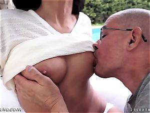 aged parent romps his ultra-cute new nubile stepdaughter Coco De Mal
