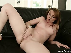 Freckled ginger-haired cougar Cuckolds hubby