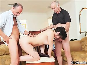naughty senior wifey and german intercourse More 200 years of meatpipe for this uber-sexy dark haired!