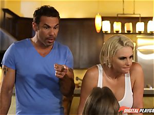 Family bang-out lessons with stepmom and step-father - Phoenix Marie and Alexis Adams