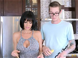 kinky mother Veronica Avluv fuckin' her sonnies insatiable pal