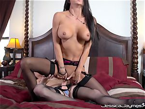 Jessica Jaymes and Allison Moore slit nailing with rope on