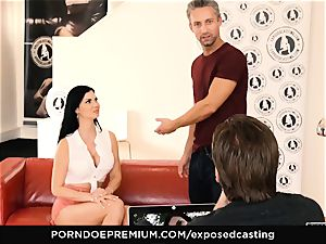 uncovered casting - pornography starlet Jasmine Jae MMF 3 way