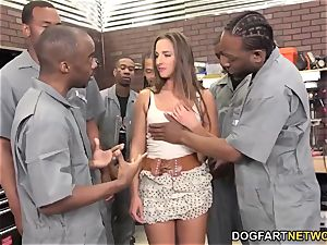 Amirah Adara deepthroats An whole team Of dark-hued guys