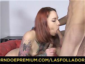 LAS FOLLADORAS - Silvia Ruby takes random boy for fuckfest