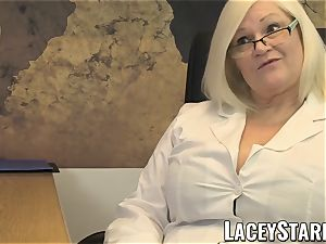 LACEYSTARR - GILF munches Pascal milky cum after hookup