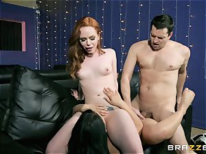 three-way joy with Ella Hughes