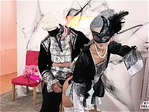 ultra-kinky INLAWS - filthy Halloween drill with Shrima Malati