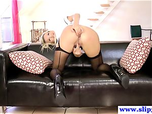 fashionable brit honey booty-fucked by senior boy and luvs it