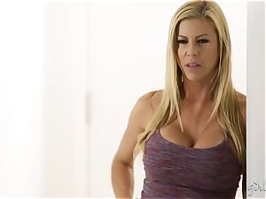 stunning busty light-haired Alexis Fawx is jealous of her gf
