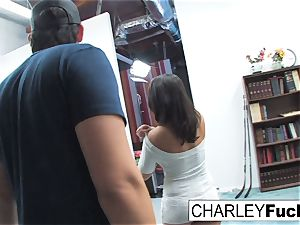 Charley haunt has some joy in this mischievous threeway