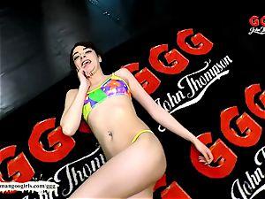 Khadisha Latina the tiny salami teaser - German Goo