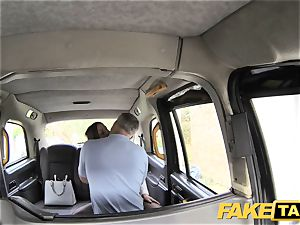faux taxi office damsel in stocking ass licking anal hook-up
