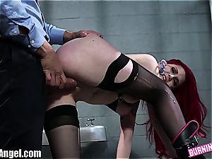 ass fucking slave Amber Ivy boned rock-hard
