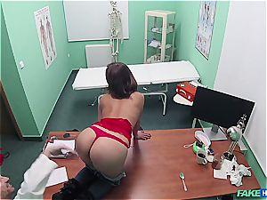 faux clinic gorgeous ass patient with trimmed muff