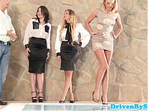 erotic stunner analized during 4 way session