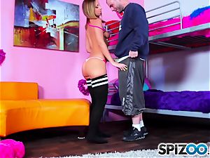 Spizoo - witness Jada cock-squeezing booty get drilled by a fat manstick