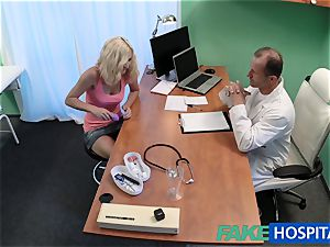 FakeHospital blond patient frolicking with her twat