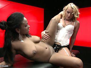 harsh Kathia Nobili thrusts her cable on pipe deep down her partner throat