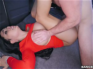 Aaliyah Hadid picked up and penetrated on the BangBus