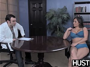 promiscuous cheerleader Leya Falcon demolished by IR anal invasion