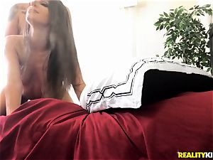 Kimmy Granger ragged all over the sofa
