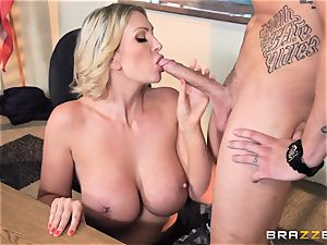 thick titted tutor Leigh Darby classroom plumb