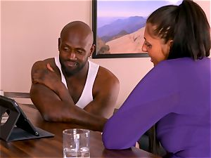 multiracial duo calls upon a dark buddy to come over for hot three-way