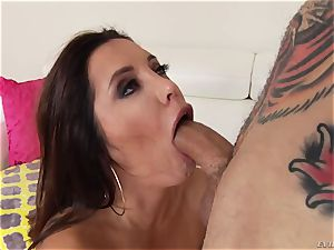 lewd enormous butt brazilian Francesca Le with ginormous boobs takes thick chisel in her booty