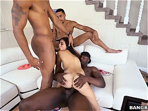 Michelle Martinez getting nailed by a blast of black fuck-sticks