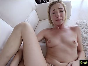 Bratty sis - shaft slips In Sisters muff She likes It