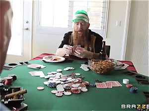 Sarah Jessie smashing her hubbies poker mate