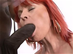Mature nymph bi-racial hard-core puss boned gulps