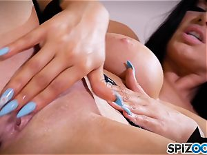 mummy Romi Rain messing with her cootchie