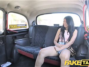 fake taxi handsome Thai lady with pierced vulva lips