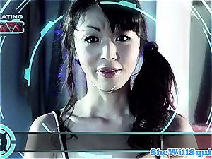 japanese pornography starlet Marica Hase gets a bathtub facial cumshot