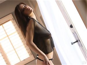 stunning Elizabeth Marxs taunts in her stockings