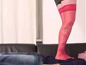 superior ladies use gimps as footmat