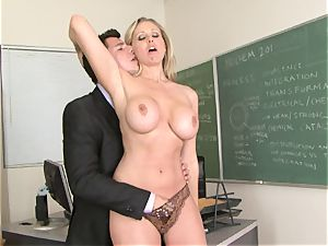 slutty bawd Julia Ann liking her man's plank badgering her slippy jaws