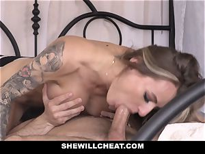 SheWillCheat super-naughty wife pulverized by husbands employee