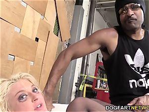 Leya Falcon Gets assfucked By A draped ebony boy