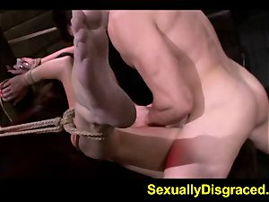 rope trussed Marley Blaze tough rigid sex