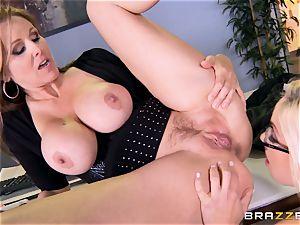 manager Julia ann porks her sumptuous assistant Olivia Austin