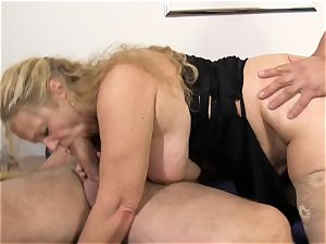 gonzo Omas - Mature towheaded gets plowed in German 3 way