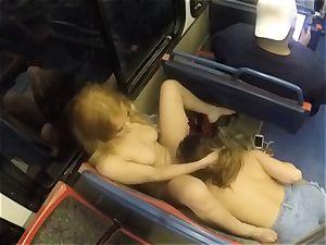 Ashley Adams and Camille Lixx public lezzy act
