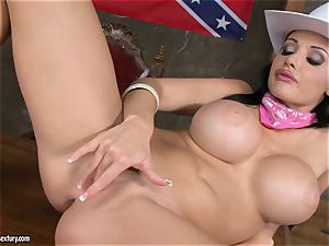 warm Aletta Ocean frigs her running in rivulets vag