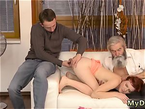 first-timer daddy dom sudden experience with an elder gent