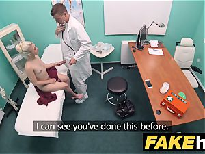 fake clinic wild physician gets to pulverize a fresh puss